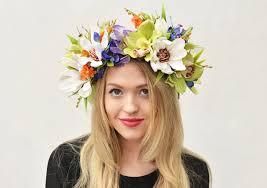 flower headdress tropical flower crown tropical headpiece orchid flower