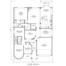5 Bedroom Floor Plans 1 Story by Interesting Idea One Level House Plans With 4 Bedrooms 11 Story 5