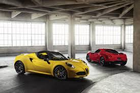 alfa romeo spider 2017 alfa romeo 4c gets minor changes for 2018 autoguide com news