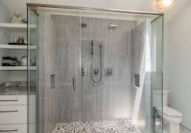 Transitional Vanity Lighting Dallas Vertical Tile Shower Bathroom Transitional With Kohler