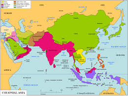 British India Map by Asia Colonial Asia Map Stampworldhistory