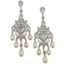 pearl chandelier chandelier freshwater pearl bridal earrings eliana