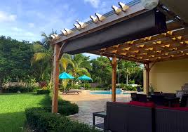 How To Make Your Own Retractable Awning Custom Size Pergola Retractable Canopy Kit Outdoor Living Today
