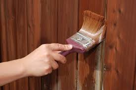 wood painting how to paint or stain wood fencing doityourself