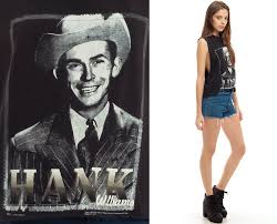hank williams shirt country music tank top 90s band concert