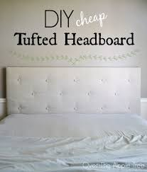 How To Make A Tufted Headboard The Apple Tree Diy Cheap Tufted Headboard