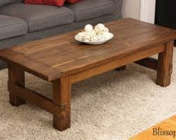 handmade wood coffee table wood coffee table etsy