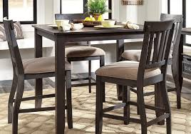 dresbar counter height dining set with 4 chairs evansville
