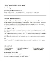 Driver Resume Sample Doc by Executive Assistant Resume 7 Free Word Pdf Documents Download