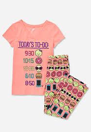 emoji pajama set clothes emoji pyjama sets and