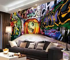indoor graffiti art including living room design cool ideas