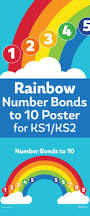 number bonds to 10 rainbow poster for ks1 teachwire teaching