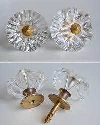 vintage glass doorknobs 60s home decor retro crystal knobs boho