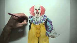 Draw Halloween Draw Halloween Characters Pennywise The Clown Stephen King U0027s
