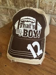 customized football cap that s my boy football cap
