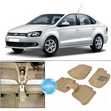 volkswagen vento digitru car 3d floor mats for volkswagen vento beige car floor