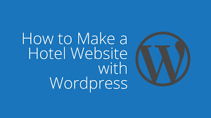 how to build a hotel website with wordpress youtube