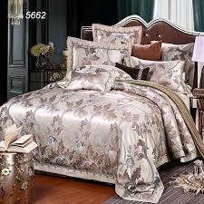 2017 sale grey camel tribute silk bedding set different color