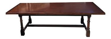 new low price ralph lauren glenbeigh mahogany trestle dining table