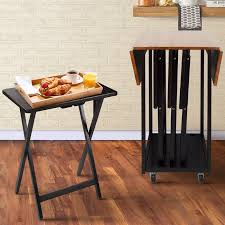 Drop Leaf Table Sets Barrel Studio Axton Drop Leaf Table With Tv Tray Table Set