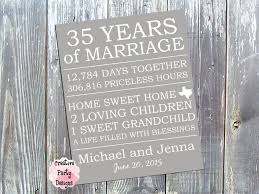 35 hochzeitstag geschenk personalized anniversary gift for parents gift for husband or