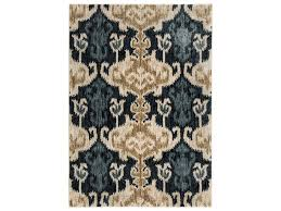Bright Blue Rug Ashley Signature Design Transitional Area Rugs Saville Blue Brown