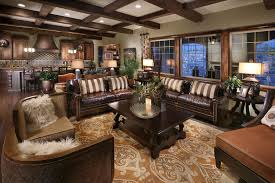 Coffered Ceiling Lighting by Pillows For Leather Couch Family Room Mediterranean With Ceiling
