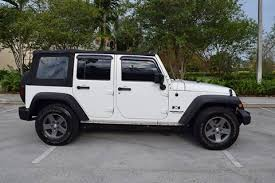 jeep wrangler beach jeep wrangler unlimited for sale in pompano beach fl carsforsale com
