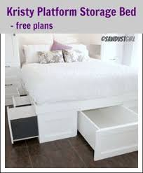 King Size Platform Bed Frame With Storage Plans by Creative Ideas How To Build A Platform Bed With Storage