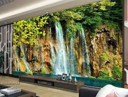 3d Wallpaper For Bedroom Home 3d Wallpaper Bedroom Mural Roll Modern Forest Waterfall Wall