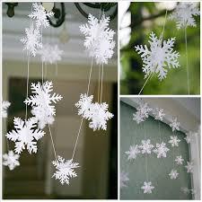 aliexpress buy 12pcs string 3d card paper white snowflake