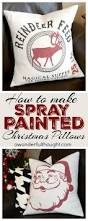 diy spray painted christmas pillows christmas pillow spray