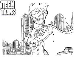 teen titans go robin coloring pages coloring 4 kids dc super