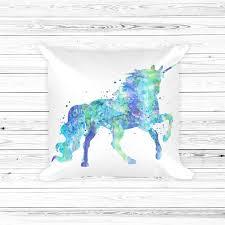 unicorn 1 throw pillow watercolor unicorn pillow pillow cover