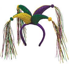 mardi gras headbands mardi gras jester headband 60583 mardigrasoutlet
