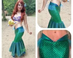 Mermaid Halloween Costume Adults Mermaid Tail Costume Etsy