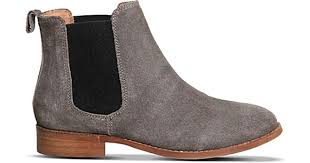 womens boots grey suede office bramble suede chelsea boots in gray lyst