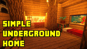 home design minecraft simple underground housebase tutorial