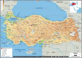 Syria Turkey Map by Geoatlas Countries Turkey Map City Illustrator Fully