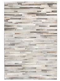 Patchwork Area Rug Leather Hide Patchwork Area Rug Made Grey