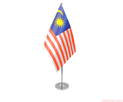 Maylasia Flag Malaysia Deluxe Satin Table Flag