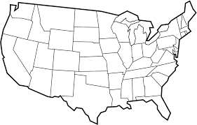 empty usa map this printable map of the united states of america has blank lines