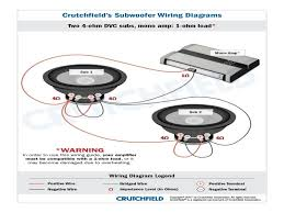 wiring diagrams 4 dual 4 ohm subs 1 ohm subwoofer wiring
