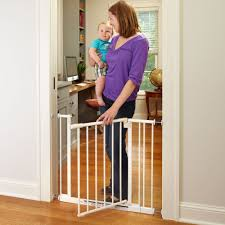 Child Proof Gates For Stairs Amazon Com Easy Close Gate White Fits Spaces Between 28