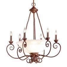 Alabaster Lighting Chandeliers Shop Classic Lighting Portofino 28 In 9 Light Bronze Mediterranean