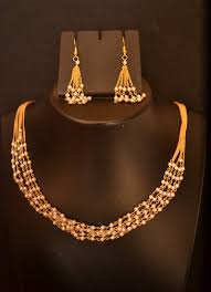 long pearl chain necklace images Buy designer pearl stone golden chain necklace set with matching jpg