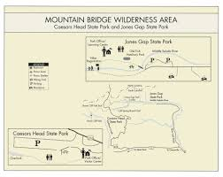 Ga State Parks Map by Jones Gap State Park Maplets