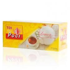 Teh Poci poci teh celup lemon 50 gram instant tea bags lemon flavour 25 ct 2 gr