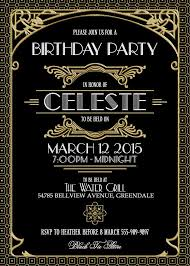 gatsby invitations best celeste with black background colors with great gatsby party