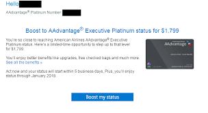 American Airlines Platinum Desk Phone Number Archive 2017 Program Year Elite Status Buyback Renew Boost